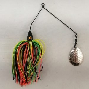 Firetiger spinnerbait with a single Colorado blade