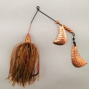 Copper Spinnerbait with copper hatchet blades