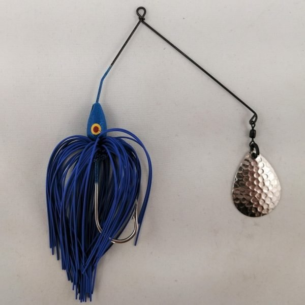 blue spinnerbait with a single Colorado blade