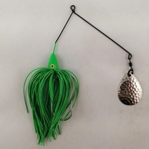 Lime spinnerbait with a single Colorado blade