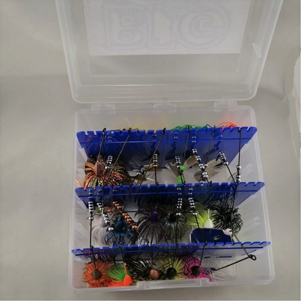 Large package with top selling bass lures in a tackelbox