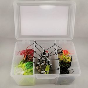 package with top selling bass lures in a tacklebox