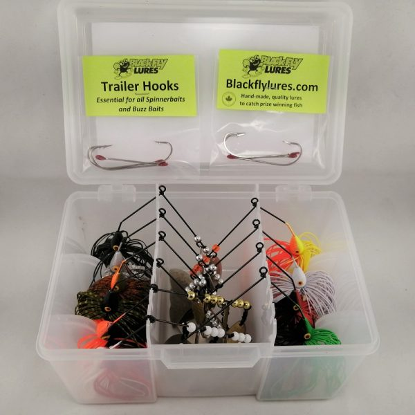 Package with top selling pike lures in a tackelbox