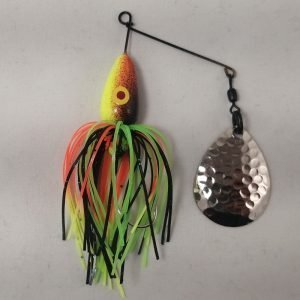 perch pattern spinnerbait with Colorado blade