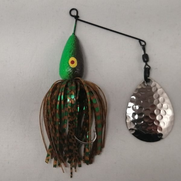 Goby pattern spinnerbait with Colorado blade