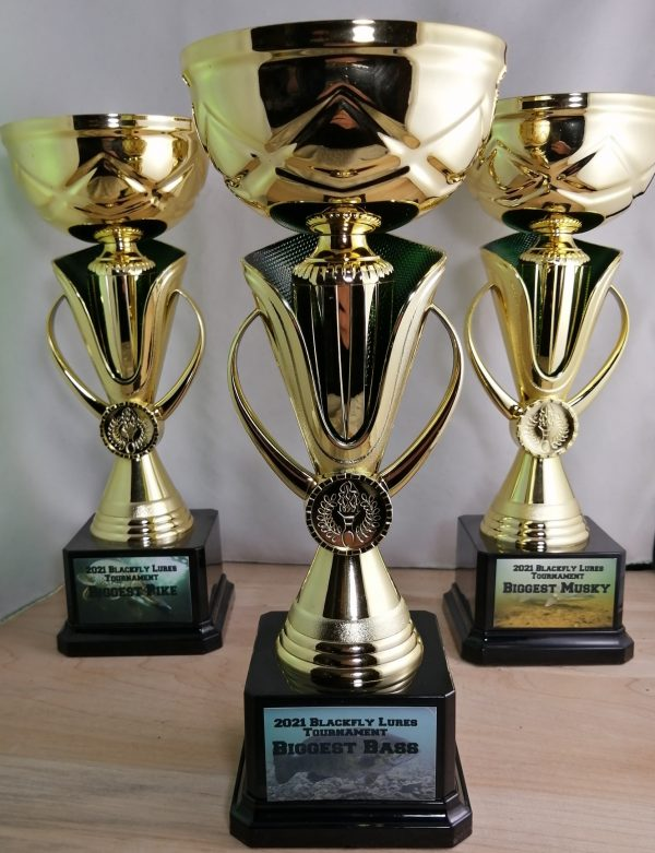 Fishing trophies for Blackfly Lures 2021 tournament